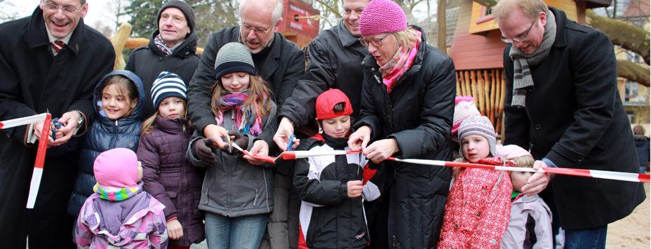 Neuer Zoo-Spielplatz eröffnet