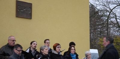 Gedenktafel für Jerzy Gross