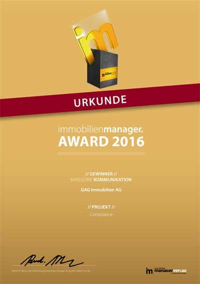 16_Award_Urkunde_2016_Immobilienmanager_Kommunikation_400px