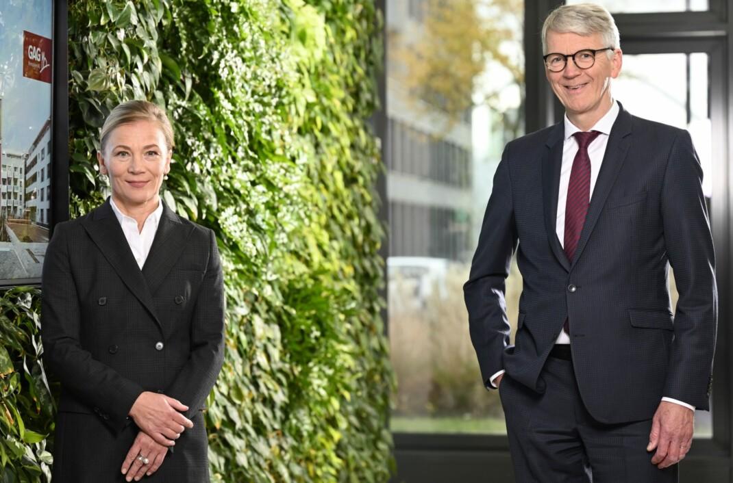 GAG-Vorstand Kathrin Möller und Ingo Frömbling